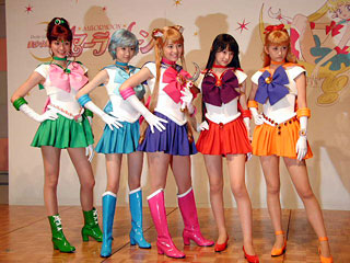 Live action Sailor Scouts...enough said.